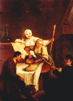 Pietro Longhi eternizou o prato no quadro 'A Polenta', em que uma mulher do povo derrama da panela uma massa dourada